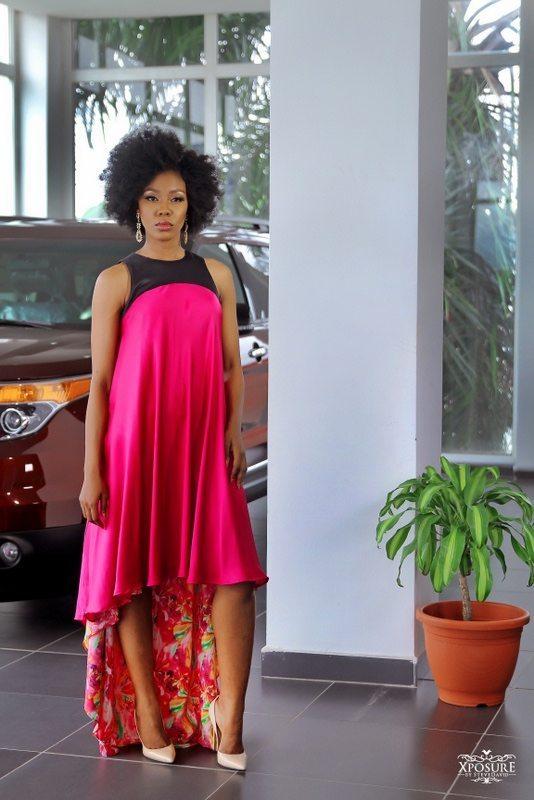 Jumai Asymmetric Dress by Ejiro Amos Tafiri Leyi Ush