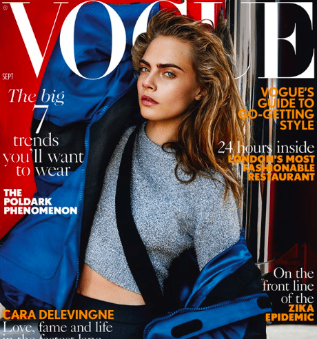 Cara Delevingne September Vogue Cover
