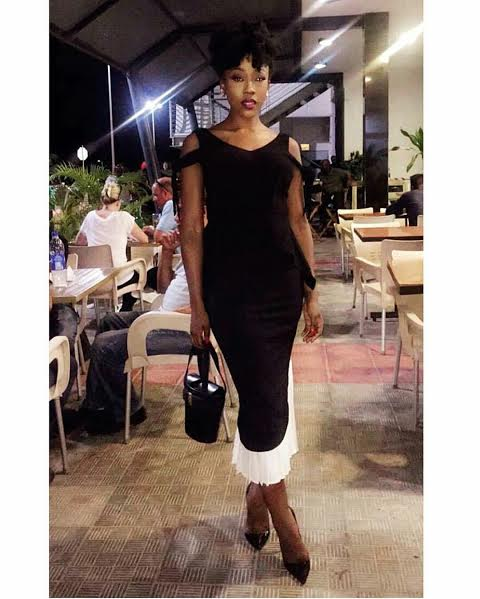 Wana Sambo black and white dress