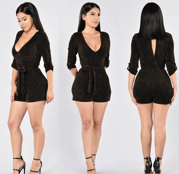 Fashion Nova's Into the Night rompers