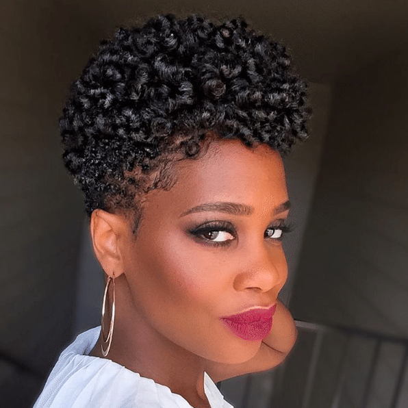 Video Unique Curly Hairstyle For Short Natural Hair Perm Rod Set