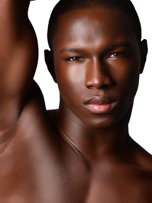 black man with perfect skin