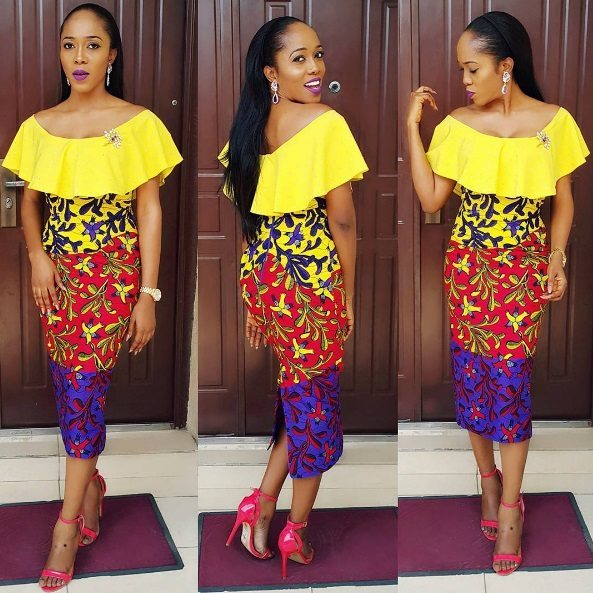 colourful Ankara dress