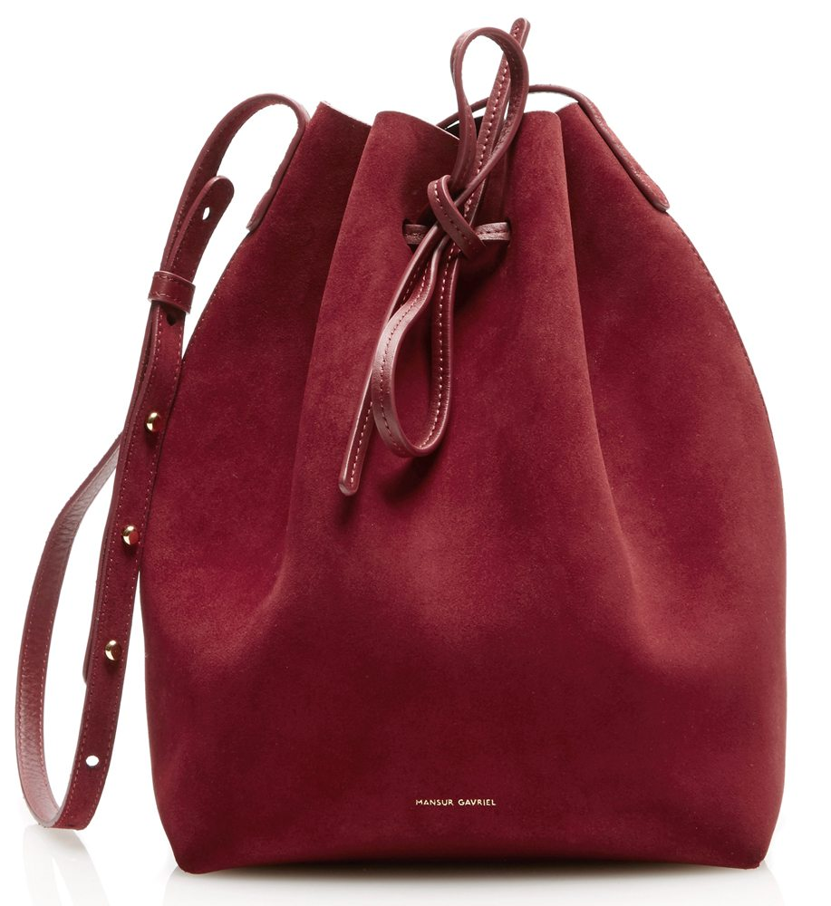 mansur-gavriel-suede-bucket-bag-burgundy