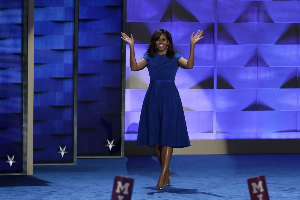 Michelle Obama in Christian Siriano