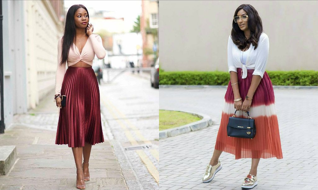Pleats are in see how celebrities and style bloggers like Celebrity fashion style blog