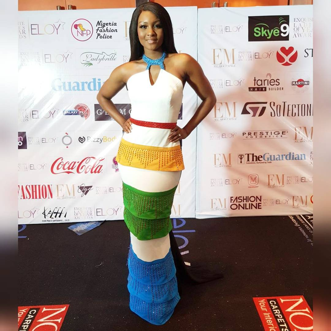 Osas Ighodaro Ajibade at ELOY Awards 2017