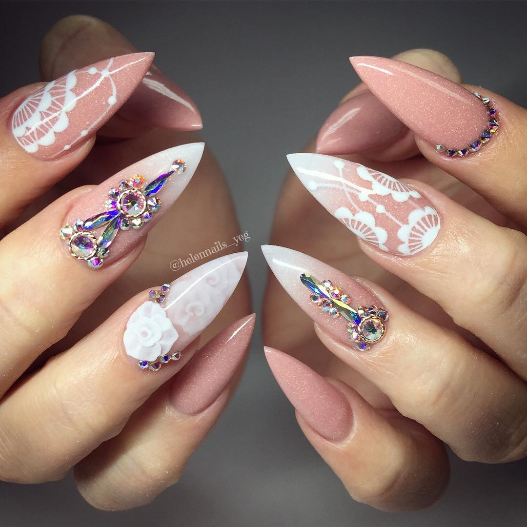 The Sculptured Nail Manicure Is Another Retro Thing That Has Hit
