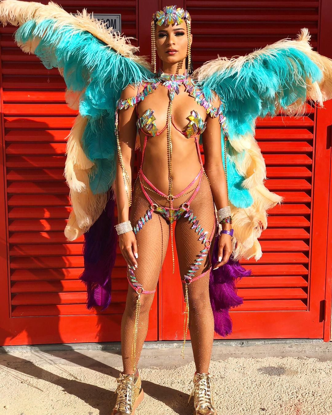 blazing-hot-costumes-trinidad-tobago-carnival-see-nigerias-dj-cuppy-looking-sizzling-hot