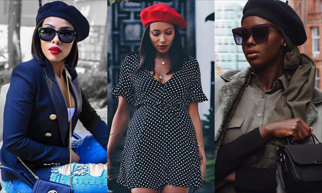 Berets Are Taking Over! Let Bonang Matheba aa8020c56f9