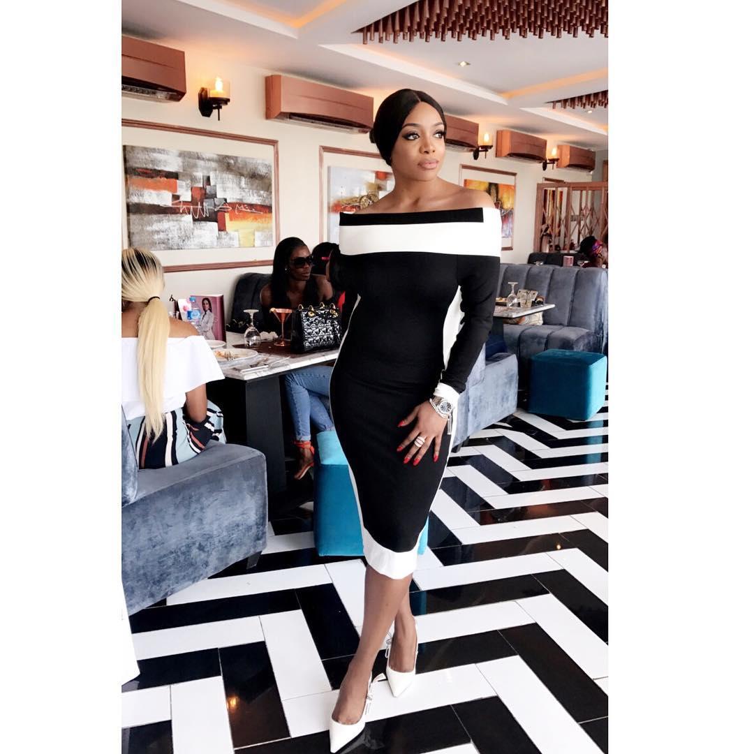 beautiful photo of chioma ikokwu in a black dress