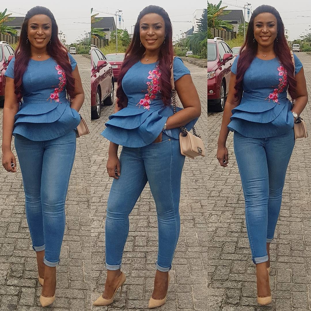 linda-ikeji-blogspot-owner-denim-style