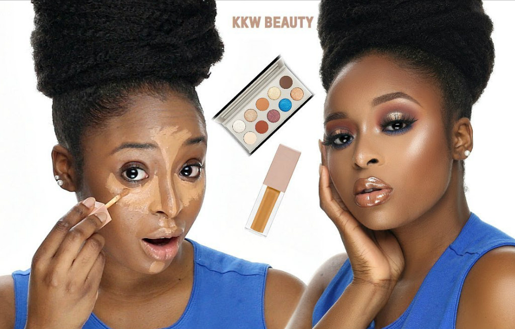 watch-ronke-rajis-review-on-the-kkw-beauty-concealer-and-kkw-x-mario-palette