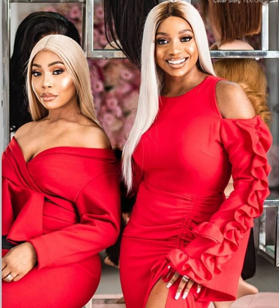 kika good hair in lovely red dress slaying with chioma good hair