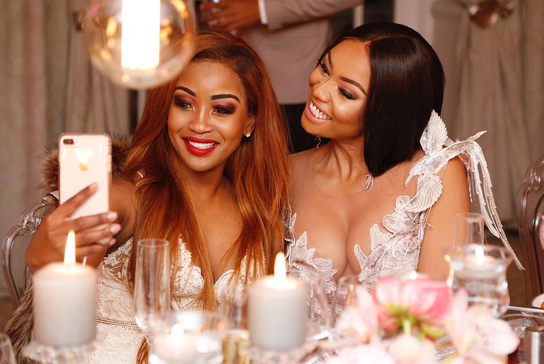 Bonang Matheba birthday with lorna maseko