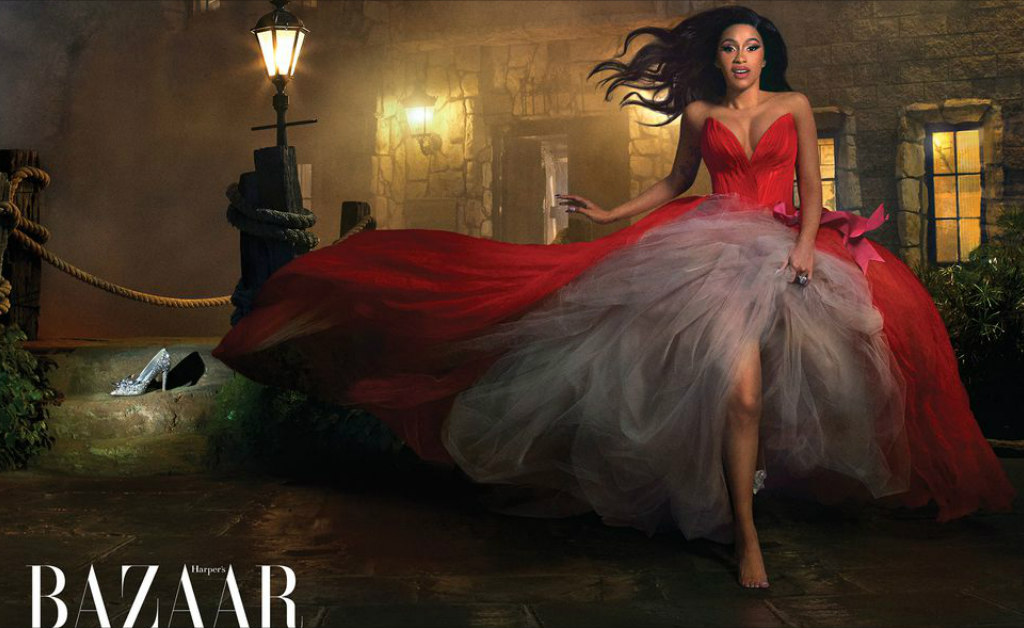 cardi-b-full-name-cinderella-for-harpers-bazaars