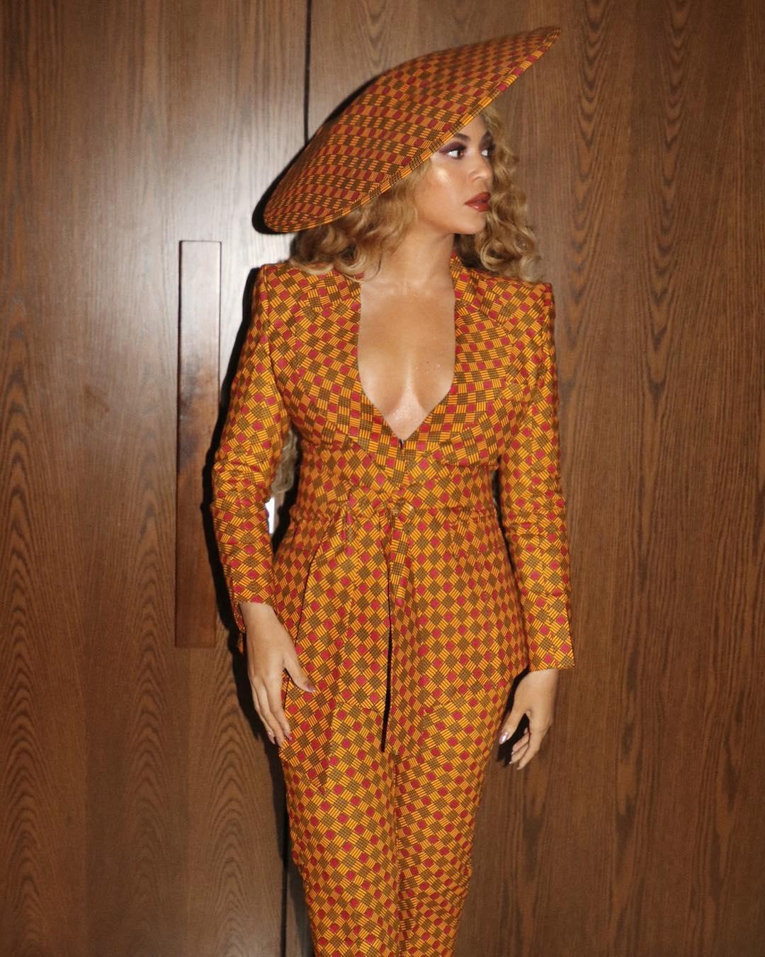 Beyoncé's Ankara suit