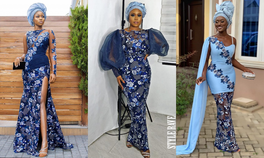 Tomike Alayande Wedding Blue Aso Ebi