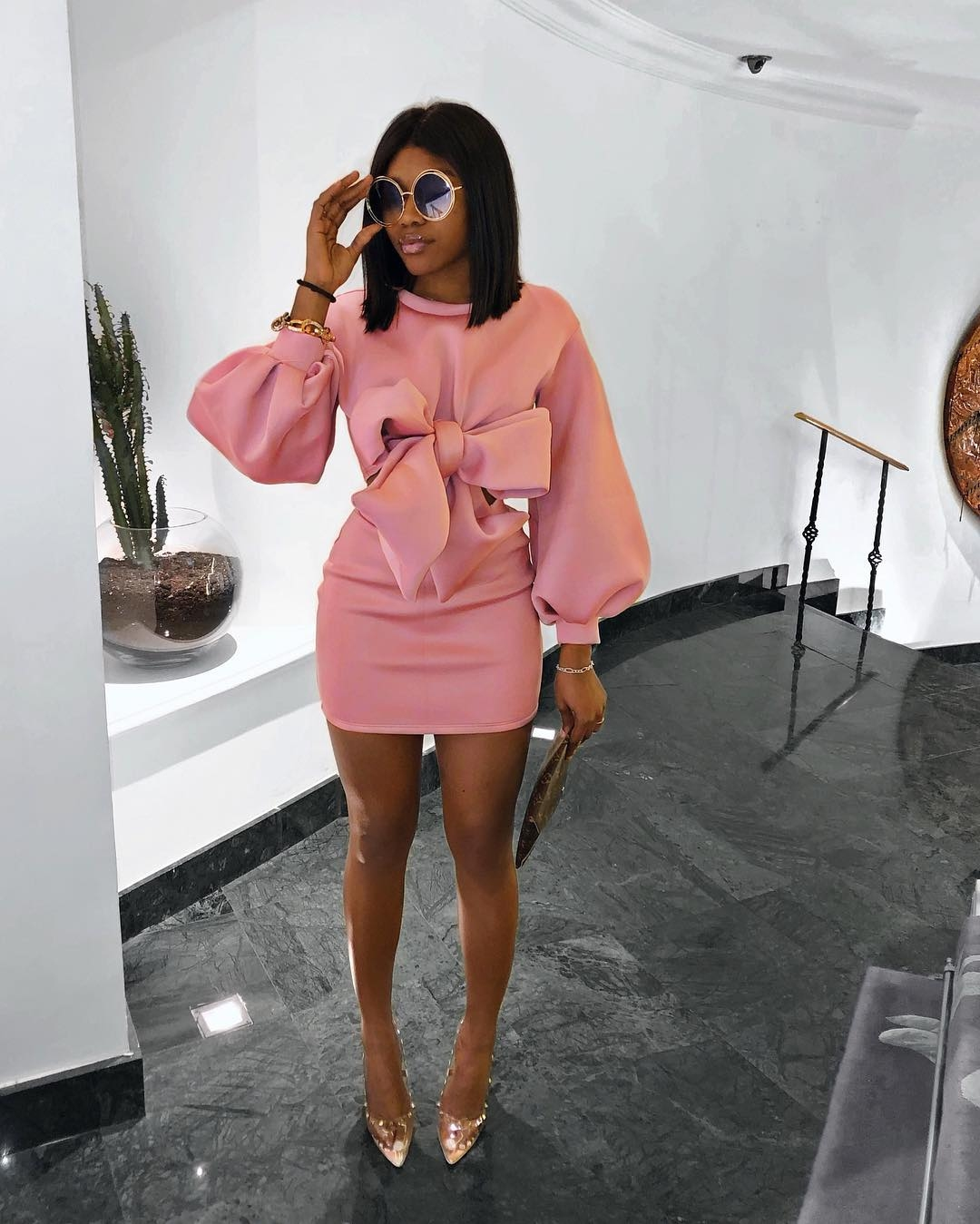 how-to-wear-blush-pink-dress-fashion-wear-style-rave