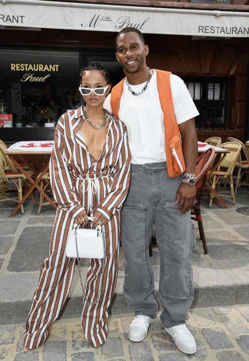 Karrueche Tran and Victor Cruz