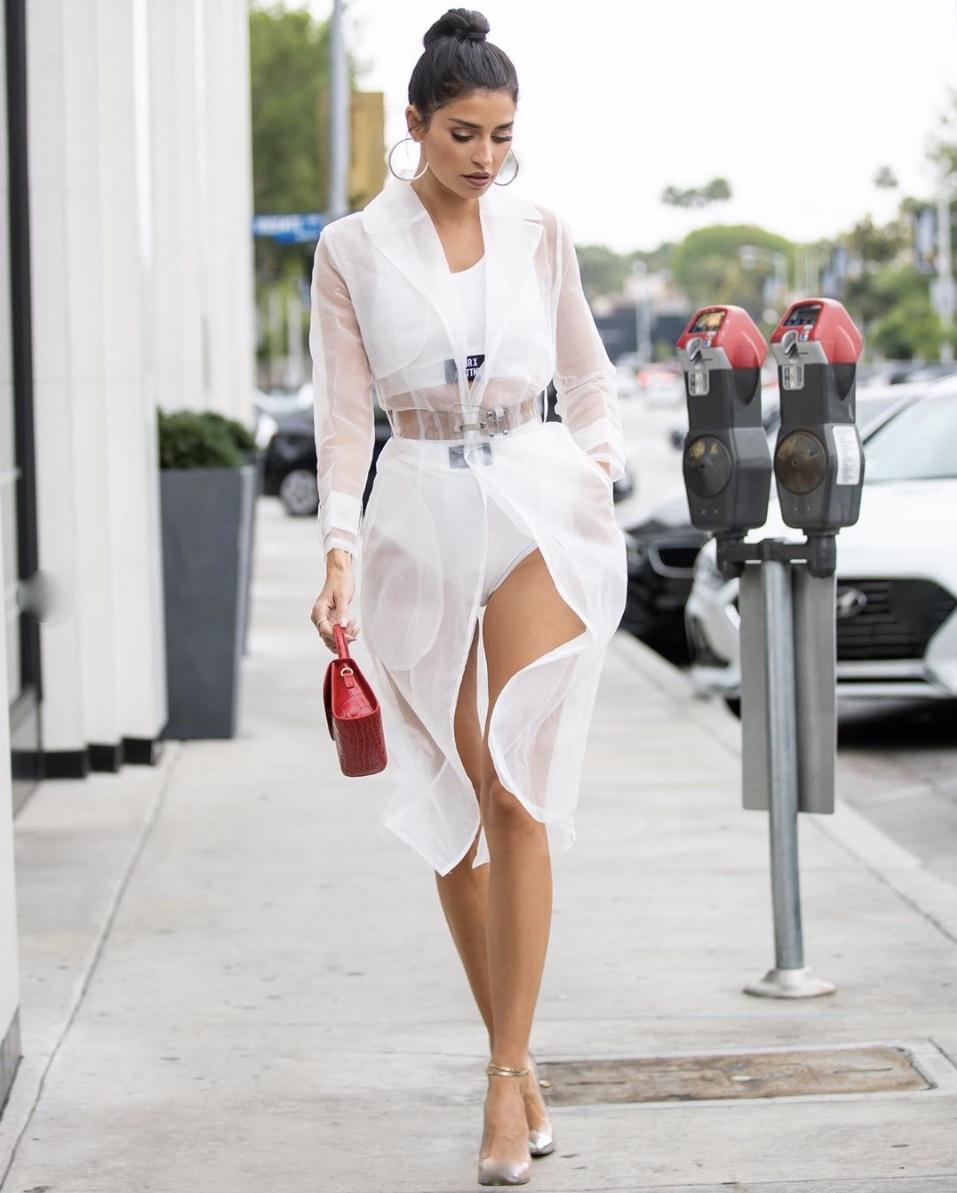 Nicole-Williams-whitesheerjacket-bodysuit-2019-stylerave