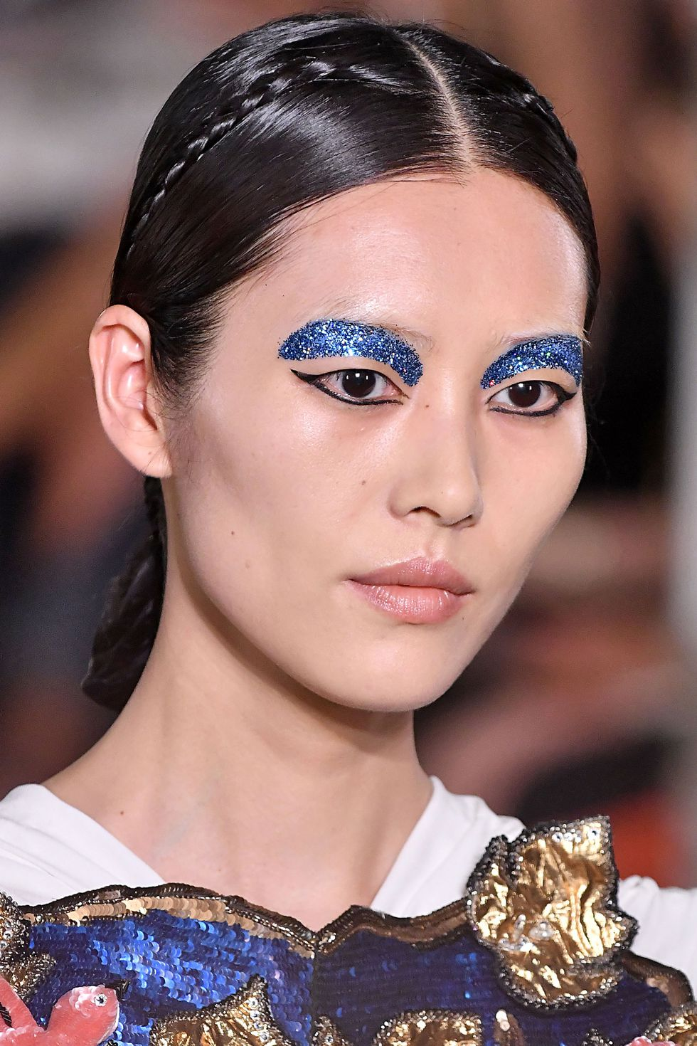 Valentino-Couture-Fashion-Glitter-Brows-Style Rave