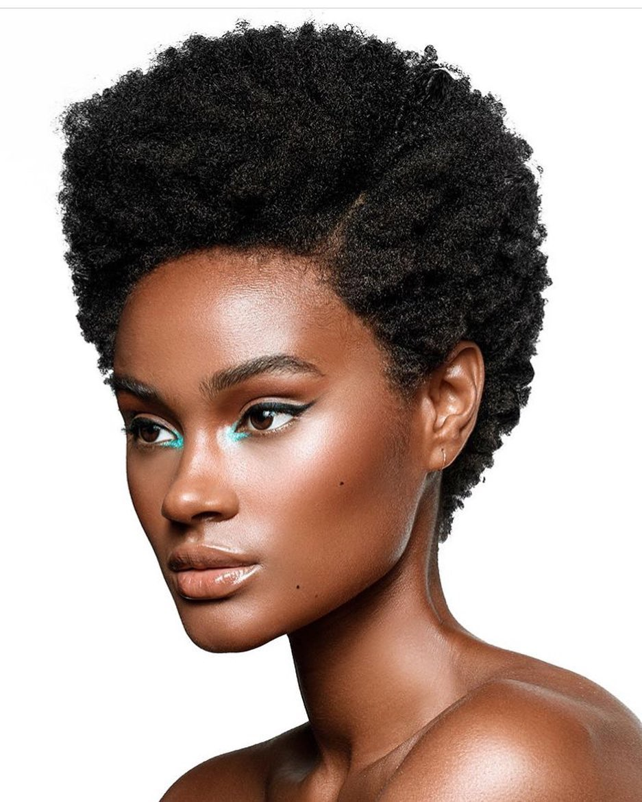 melanin-nude-makeup-look-on-afro-hairstyle-style-rave