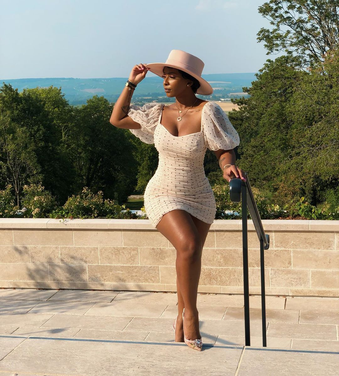 boity-thulo-short-white-polka-dot-dress-south-africa