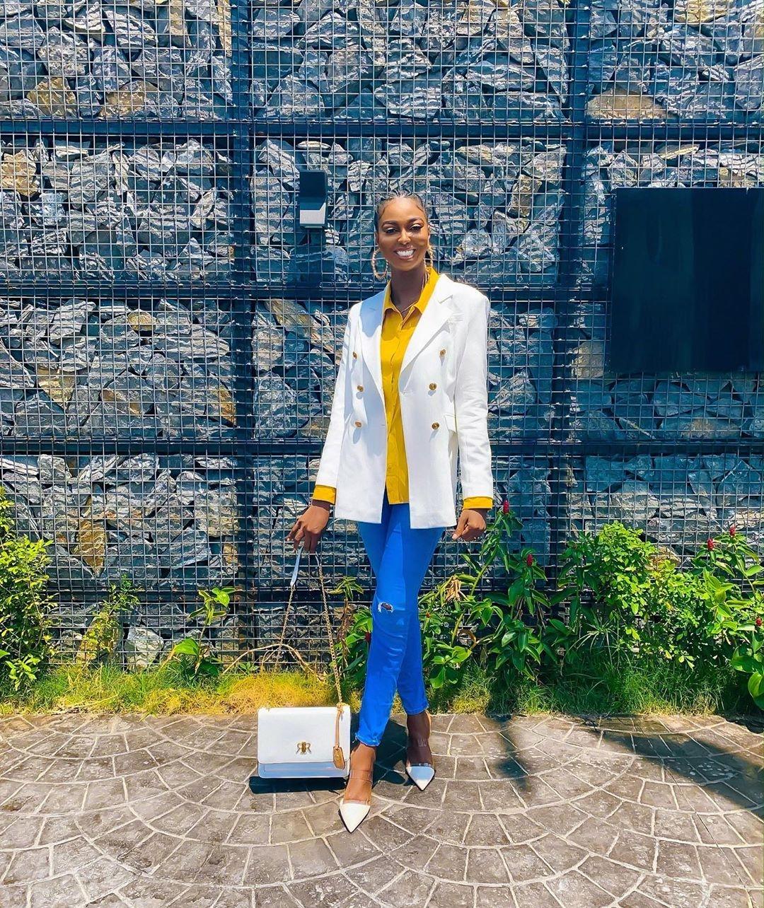 Olawunmi-olarslim-adewale-nigerian-influencer-white-blazer