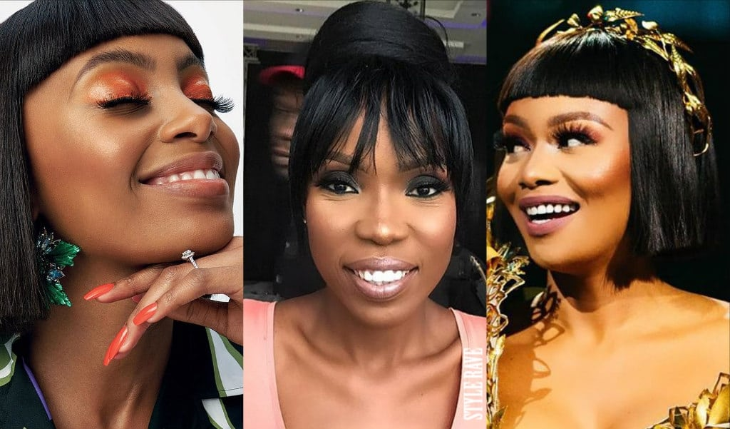 latest-bang-hairstyles-2019-style-rave-how-to-wear-fringe-hairstyle-on-african-women-celebrities-nigeria-south-africa