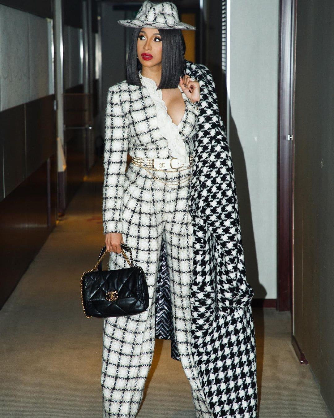 Cardi B in Chanel