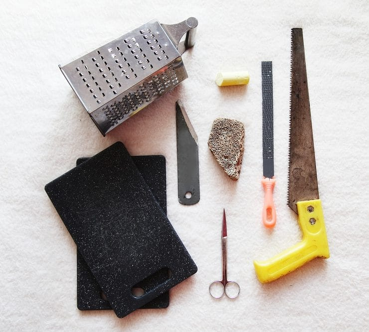 tools for making ripped denim jeans