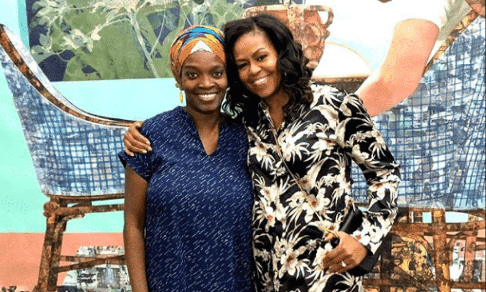 michelle-obama-visits-njideka-akunyili-crosby-studio-style-rave