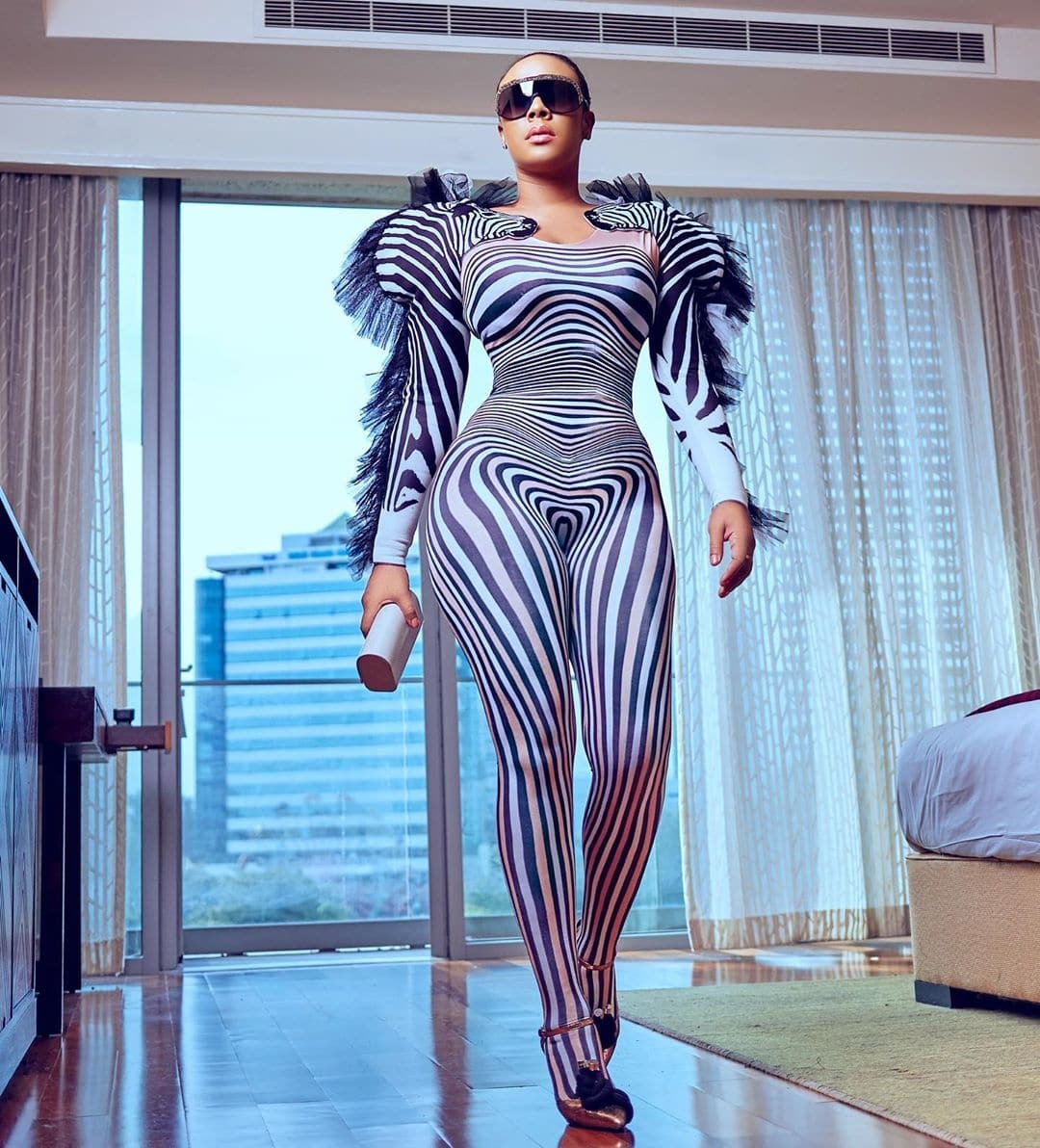 Hailliey-sumney-zebra-print-animal-print-inspired-jumpsuit