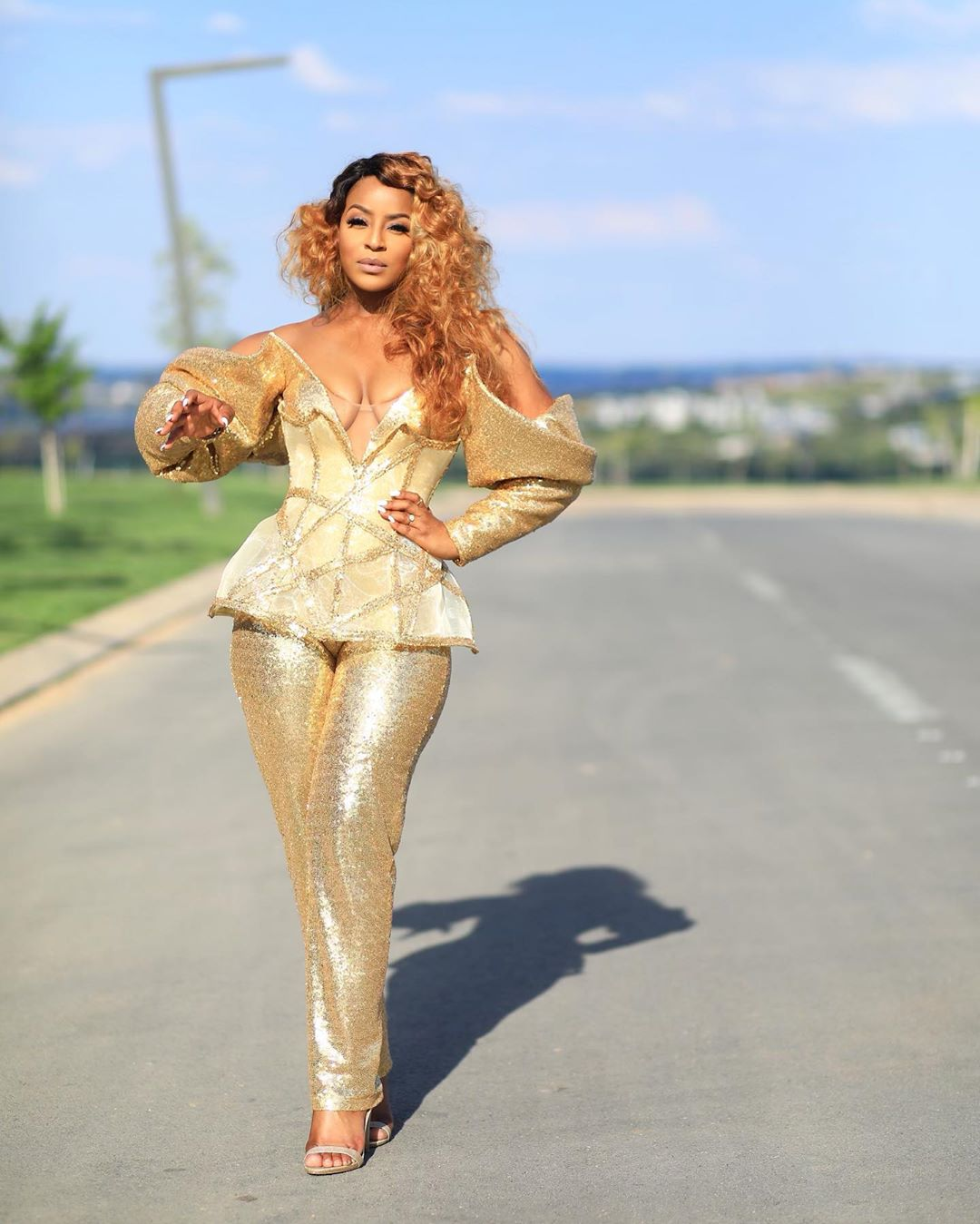 jessica-nkosi-south-african-media-personality-gold-outfit