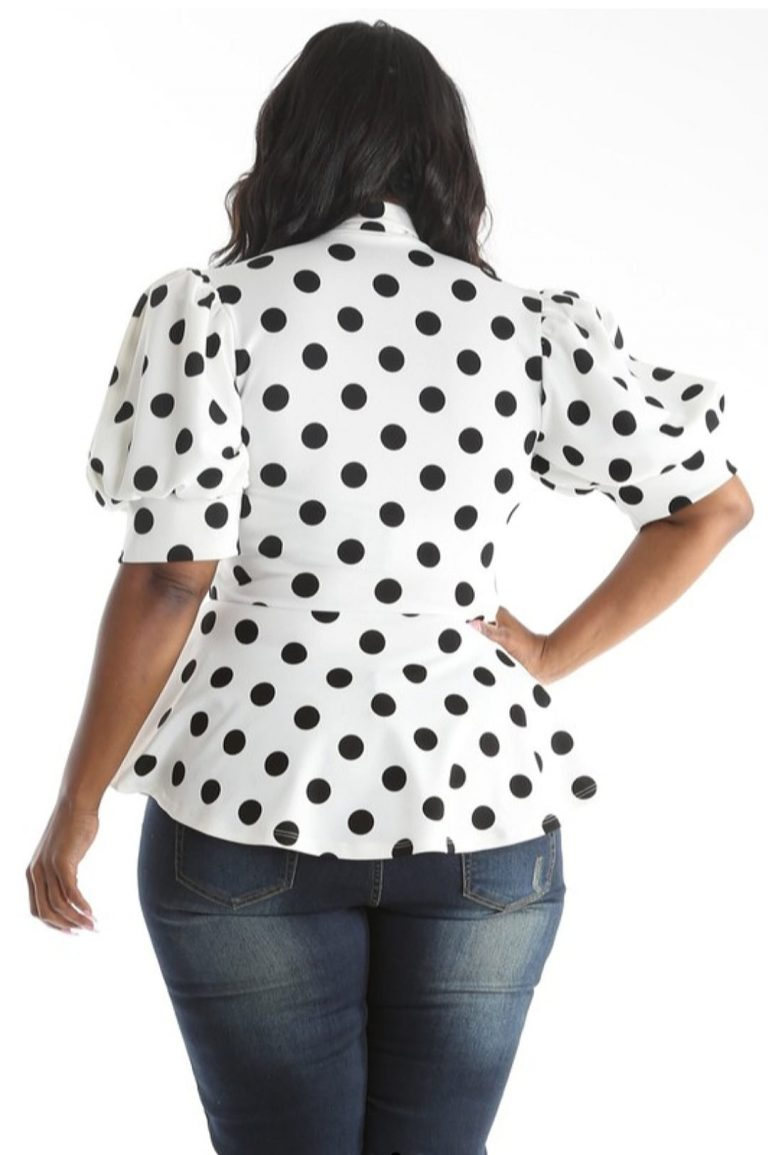 Lizzy Bow Tie Polka Dot Blouse