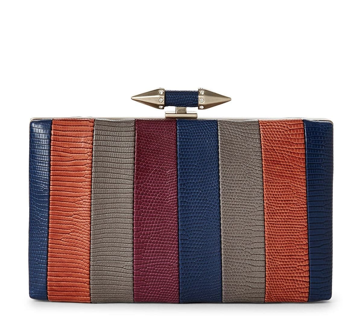 Lala Multi-colored Structured Clutch For Fall Winter Spring Summer