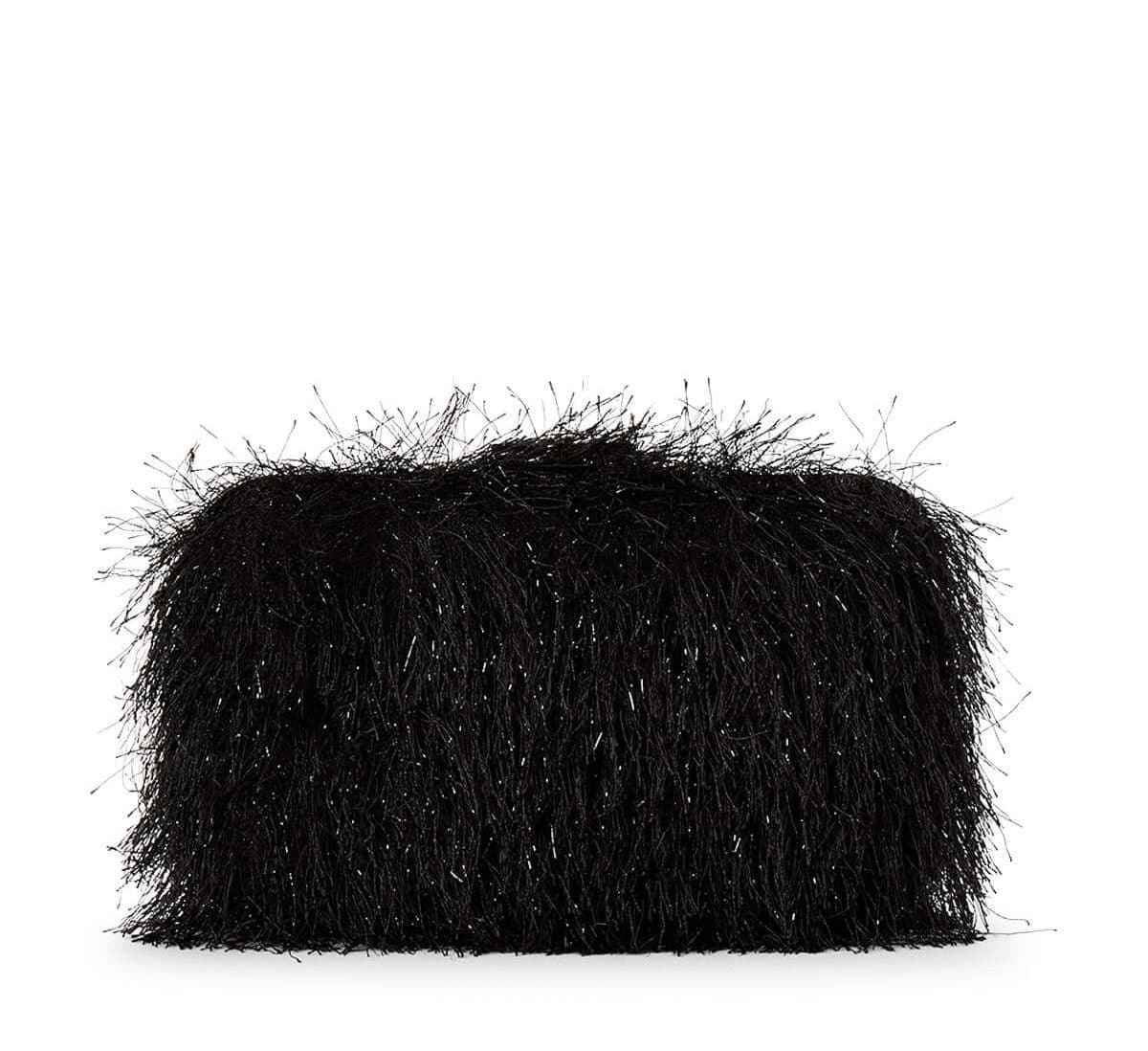 Julia Black Fringe Clutch