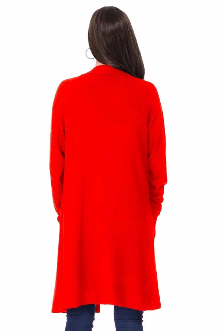 Ella Cardigan Red 2