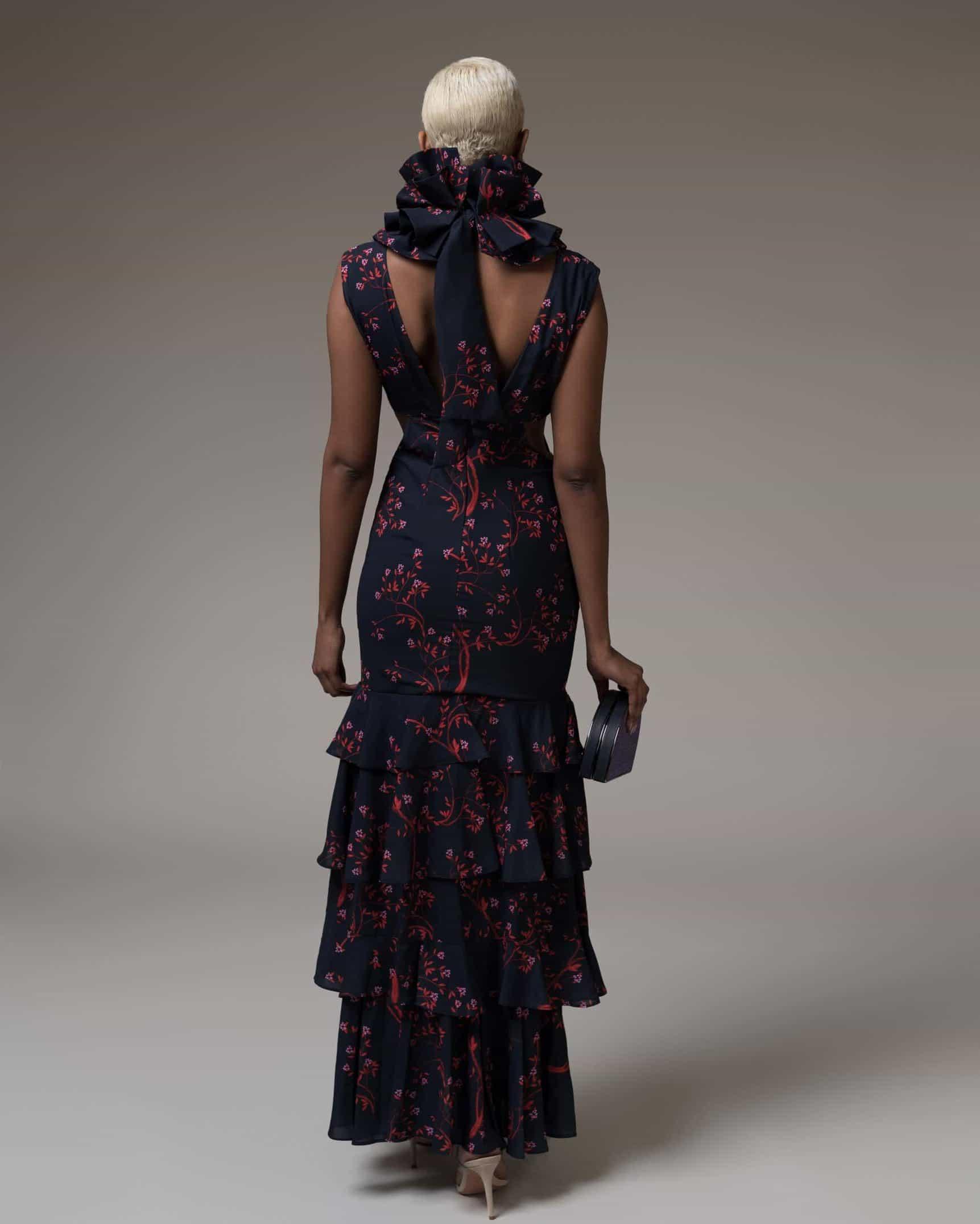 Audrey Elegant Floral Dress