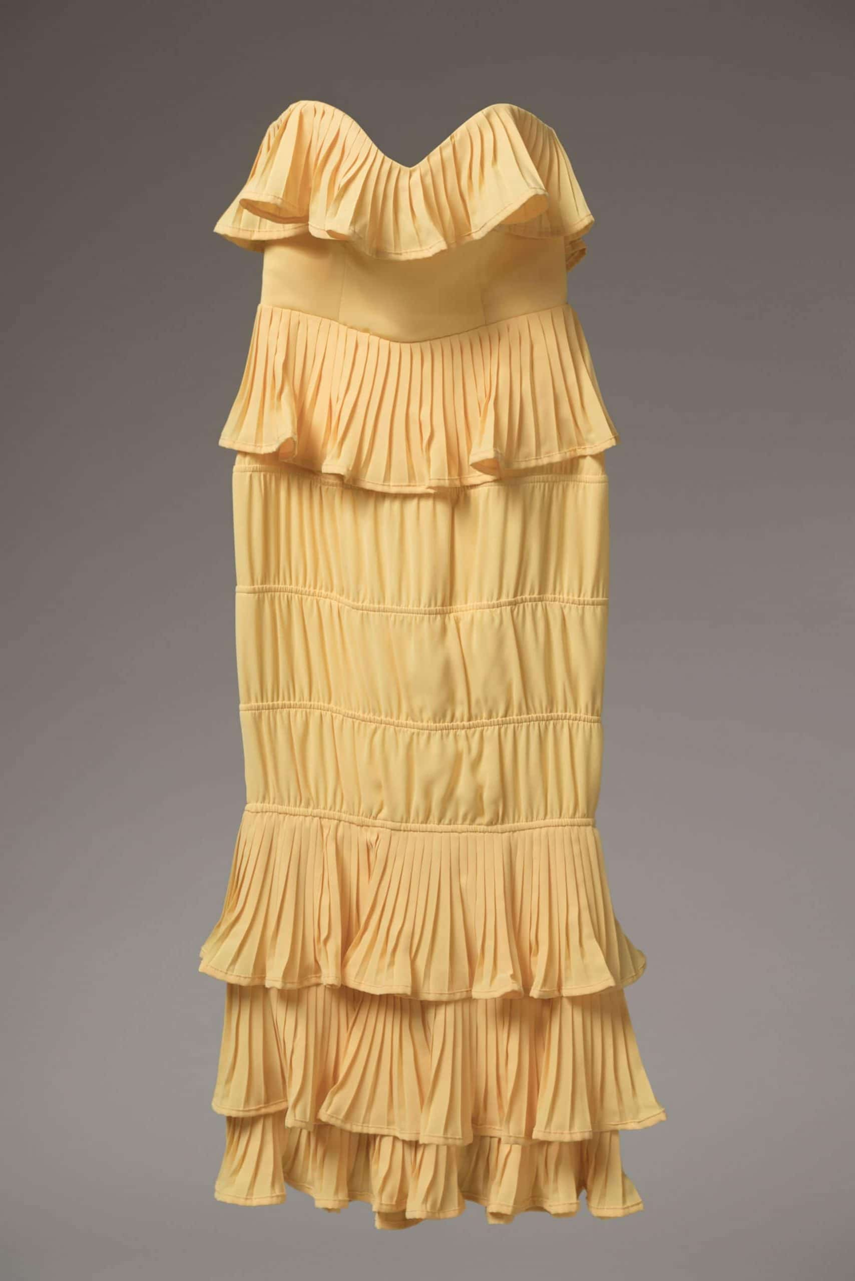 Olivia Tube Dress Yellow For Fall Winter Spring Summer