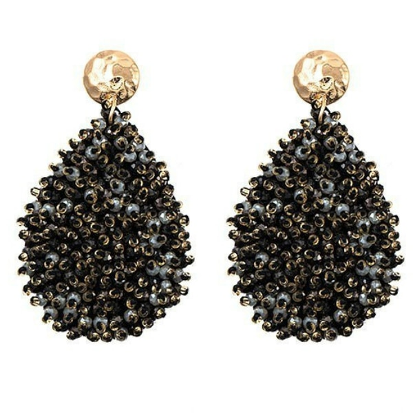 Juliet Cluster Beaded Teardrop Earrings For Fall Winter Spring Summer