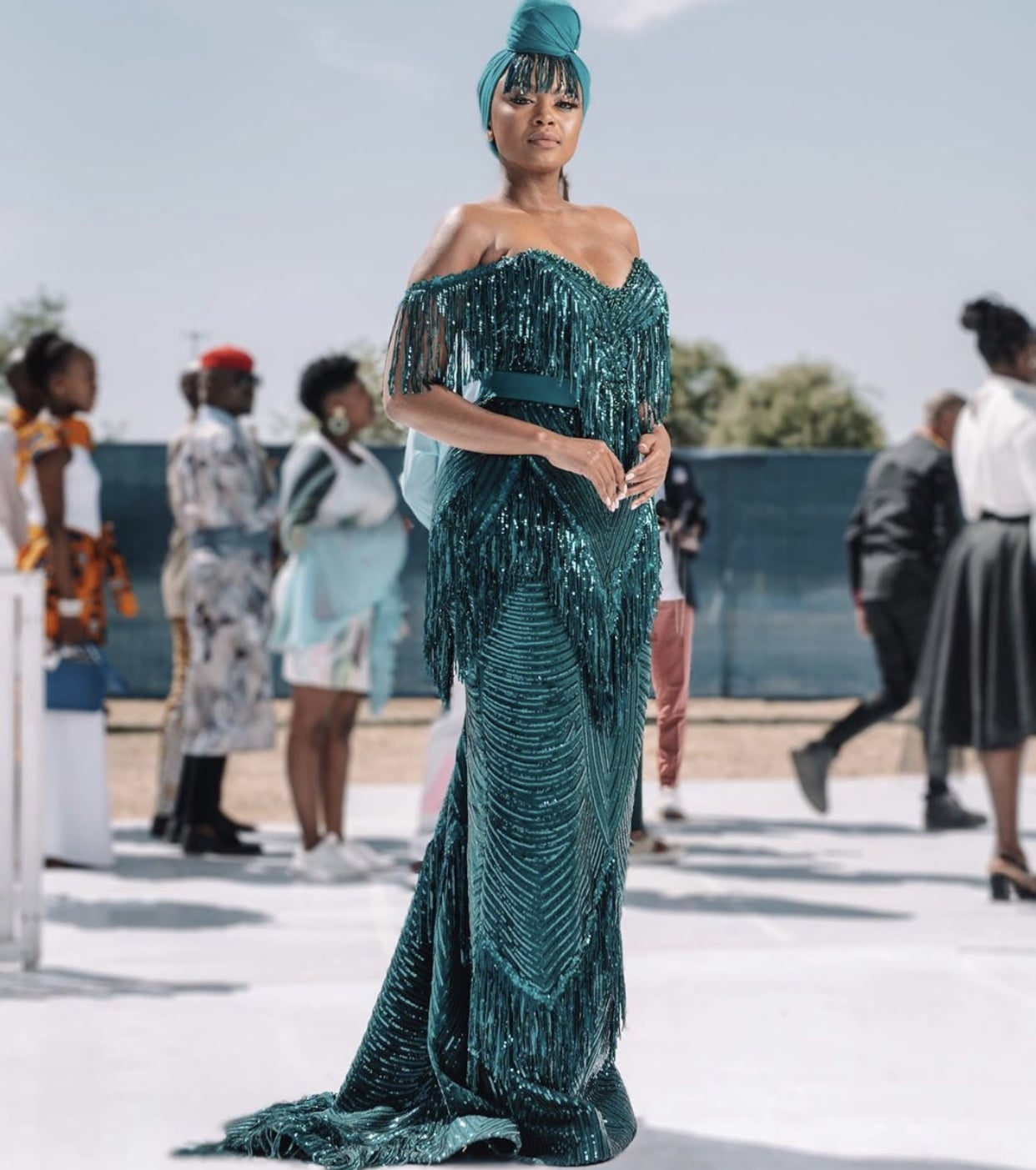 Lerato-kganyago-green-fringe-dress-african-celebs-style