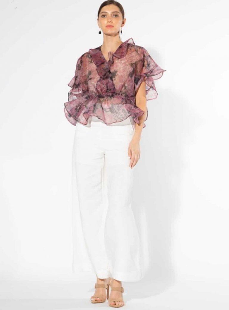 malaika-purple-floral-peplum-blouse-top For Fall Winter Spring Summer