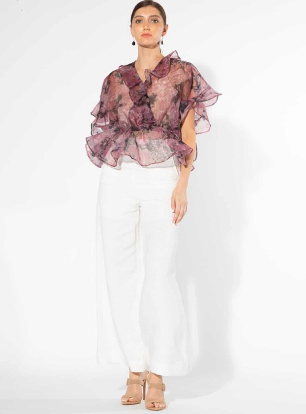 malaika-purple-floral-peplum-blouse-top For Fall Winter Spring Summer