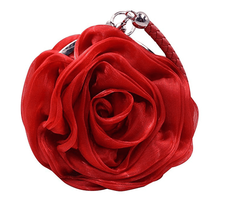 Simi Rose Satin Wristlet Clutch