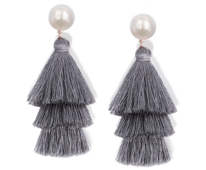 Eva Pearl Tassel Earrings For Fall Winter Spring Summer