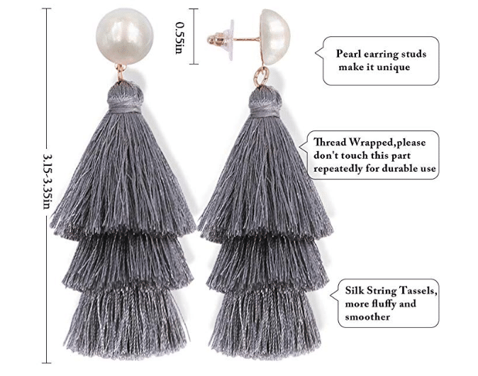 Eva Pearl Tassel Earrings