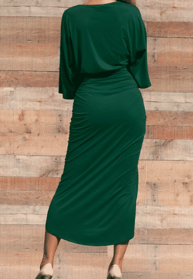 Monica 3/4 Sleeve Ruched Bodycon Dress