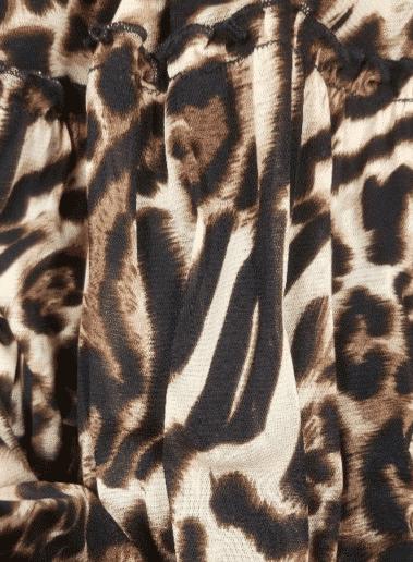 LEOPARD MESH LONG DRESS